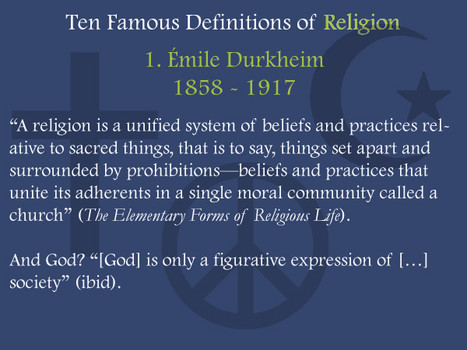 durkheim on religion durkheim s definitiion of religion