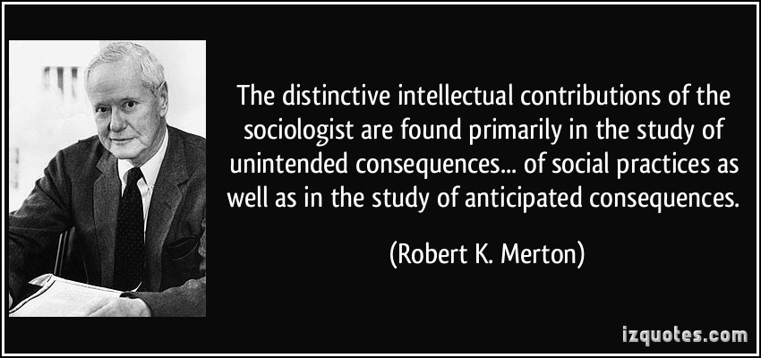 mertons theory Robert merton (1910-2003) argued that society may be set up in a way that encourages too much deviance learn more about robert merton's strain.